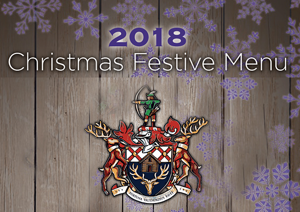 2018 Christmas Festive Menu